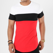 /achat-t-shirts-longs-oversize/john-h-tee-shirt-oversize-1880-rouge-noir-blanc-141319.html