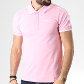 /achat-polos-manches-courtes/unkut-polo-manches-courtes-link-rose-blanc-141235.html