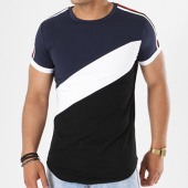 /achat-t-shirts-longs-oversize/john-h-tee-shirt-oversize-avec-bandes-1896-noir-blanc-bleu-marine-141341.html