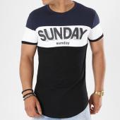 /achat-t-shirts-longs-oversize/john-h-tee-shirt-oversize-18115-noir-blanc-bleu-marine-141343.html