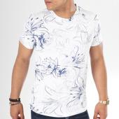 /achat-t-shirts/aarhon-tee-shirt-9001hi-blanc-bleu-marine-floral-141515.html