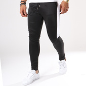 /achat-pantalons-joggings/aarhon-pantalon-jogging-105-avec-bande-noir-blanc-141718.html
