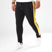 /achat-pantalons-joggings/classic-series-pantalon-jogging-avec-bandes-9507-noir-jaune-141768.html