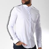 /achat-chemises-manches-longues/lbo-chemise-manches-longues-avec-bandes-slim-fit-460-blanc-141840.html