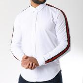 /achat-chemises-manches-longues/lbo-chemise-manches-longues-avec-bandes-slim-fit-461-blanc-141841.html