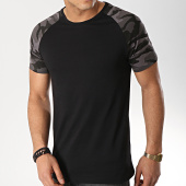 /achat-t-shirts/lbo-tee-shirt-raglan-465-noir-camouflage-gris-141854.html