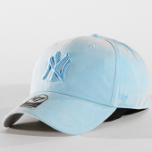 /achat-casquettes-de-baseball/47-brand-casquette-suedine-new-york-yankees-clean-up-ultra-basic-ultbs17uss-bleu-clair-142061.html