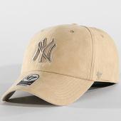 /achat-casquettes-de-baseball/47-brand-casquette-suedine-new-york-yankees-clean-up-uitra-basic-ultbs17uss-beige-142062.html