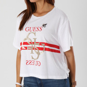 https://www.laboutiqueofficielle.com/achat-t-shirts/tee-shirt-crop-femme-w83i10-k51r0-blanc-rouge-dore-142191.html