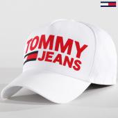 /achat-casquettes-de-baseball/tommy-hilfiger-jeans-casquette-flock-print-0272-blanc-142133.html