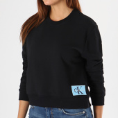 /achat-sweats-col-rond-crewneck/calvin-klein-sweat-crewneck-femme-monogram-logo-badge-8047-noir-142347.html