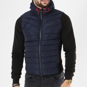 /achat-vestes/canadian-peak-veste-zippee-capuche-giordano-bleu-marine-noir-142223.html