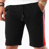 /achat-shorts-jogging/frilivin-short-jogging-avec-bandes-6796-noir-rouge-142274.html