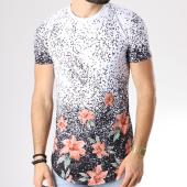 /achat-t-shirts-longs-oversize/john-h-tee-shirt-oversize-18108-blanc-noir-floral-142330.html