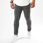 /achat-pantalons-carreaux/john-h-pantalon-avec-bandes-240-gris-anthracite-142374.html