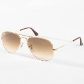 /achat-lunettes-de-soleil/ray-ban-lunettes-de-soleil-femme-aviator-gradient-3025-dore-142532.html