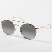 /achat-lunettes-de-soleil/ray-ban-lunettes-de-soleil-round-double-bridge-3647n-dore-bleu-clair-142562.html
