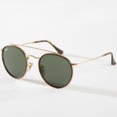 /achat-lunettes-de-soleil/ray-ban-lunettes-de-soleil-round-double-bridge-3647n-noir-dore-142567.html