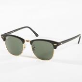 /achat-lunettes-de-soleil/ray-ban-lunettes-de-soleil-femme-clubmaster-classic-3016-noir-dore-142580.html