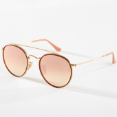 /achat-lunettes-de-soleil/ray-ban-lunettes-de-soleil-round-double-bridge-3647n-dore-cuivre-gradient-flash-142582.html