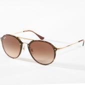/achat-lunettes-de-soleil/ray-ban-lunettes-de-soleil-blaze-double-bridge-4292n-havane-dore-142737.html