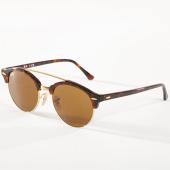 /achat-lunettes-de-soleil/ray-ban-lunettes-de-soleil-clubround-double-bridge-4346-havane-dore-142740.html