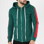 /achat-sweats-zippes-capuche/sixth-june-sweat-zippe-capuche-bande-brodee-m3471csw-vert-142595.html