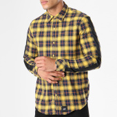 /achat-chemises-manches-longues/sixth-june-chemise-manches-longues-oversize-bandes-brodees-m3476vsh-jaune-bleu-marine-142751.html