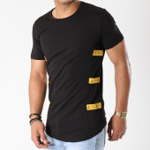 /achat-t-shirts-longs-oversize/classic-series-tee-shirt-oversize-avec-bandes-yellow-noir-142791.html