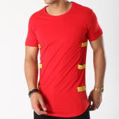 /achat-t-shirts-longs-oversize/classic-series-tee-shirt-oversize-avec-bandes-yellow-rouge-142793.html