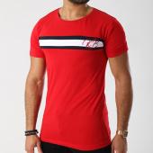 /achat-t-shirts/classic-series-tee-shirt-avec-bandes-kb-rouge-noir-blanc-142815.html
