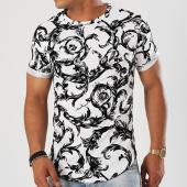/achat-t-shirts-longs-oversize/classic-series-tee-shirt-oversize-velours-7241v01-blanc-noir-floral-142929.html