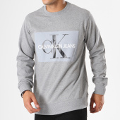 /achat-sweats-col-rond-crewneck/calvin-klein-sweat-crewneck-basic-monogram-logo-7742-gris-chine-143129.html