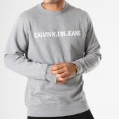 /achat-sweats-col-rond-crewneck/calvin-klein-sweat-crewneck-basic-institutional-logo-7757-gris-chine-143132.html