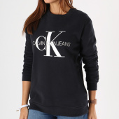 /achat-sweats-col-rond-crewneck/calvin-klein-sweat-crewneck-femme-core-monogram-logo-7877-noir-143178.html