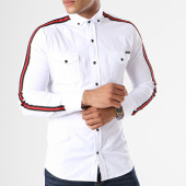 /achat-chemises-manches-longues/classic-series-chemise-manches-longues-bandes-brodees-115-blanc-noir-rouge-143021.html
