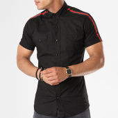 /achat-chemises-manches-courtes/classic-series-chemise-manches-courtes-bandes-brodees-114-noir-rouge-143025.html