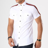 /achat-chemises-manches-courtes/classic-series-chemise-manches-courtes-bandes-brodees-114-blanc-noir-rouge-143027.html
