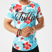 /achat-t-shirts-longs-oversize/uniplay-tee-shirt-oversize-t271-blanc-bleu-clair-floral-143041.html