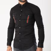 /achat-chemises-manches-longues/gov-denim-chemise-manches-longues-avec-bandes-g18015-noir-143209.html