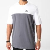 /achat-t-shirts/puma-tee-shirt-retro-576380-gris-anthracite-blanc-143359.html