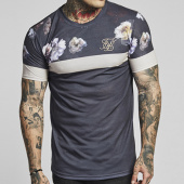 /achat-t-shirts-longs-oversize/siksilk-tee-shirt-oversize-curved-hem-sport-12112-gris-anthracite-floral-143377.html