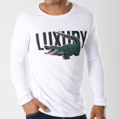 /achat-t-shirts-manches-longues/luxury-lovers-tee-shirt-manches-longues-alligator-blanc-143762.html