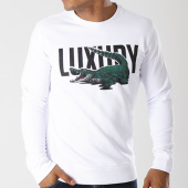 /achat-sweats-col-rond-crewneck/luxury-lovers-sweat-crewneck-alligator-blanc-143768.html