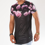 /achat-t-shirts-longs-oversize/sixth-june-tee-shirt-oversize-bandes-brodees-m3454vts-noir-floral-143764.html