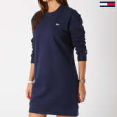 /achat-robes/tommy-hilfiger-jeans-robe-manches-longues-femme-classics-4470-bleu-marine-143806.html