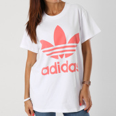 /achat-t-shirts/adidas-tee-shirt-oversize-femme-trefoil-dh4429-blanc-rose-143838.html