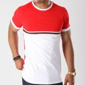/achat-t-shirts/terance-kole-tee-shirt-bandes-brodees-98139-rouge-blanc-143948.html