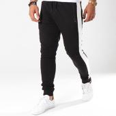 /achat-pantalons-joggings/gov-denim-pantalon-jogging-avec-bandes-g18016-noir-144015.html