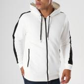 /achat-sweats-zippes-capuche/gov-denim-sweat-zippe-capuche-avec-bandes-g18016-blanc-144017.html